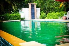 A construção bonita da piscina decora Imagem de Stock