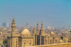 Construção bonita de uma mesquita muçulmana Mesquita de Mohammed Ali no Cairo fotos de stock