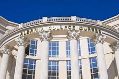 Construção branca da universidade em Durres, Albânia imagens de stock royalty free