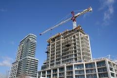 Construção bulding do apartamento Fotografia de Stock