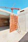 Construção, canteiro de obras imagens de stock