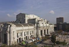Construção central da estação de Milão Fotografia de Stock Royalty Free