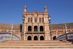 Construção central na plaza de Espana em Sevilha, Espanha imagens de stock royalty free