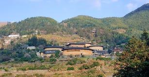 Construção chinesa da terra do Hakka, casa de cerco foto de stock