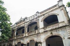 Construção chinesa e ocidental velha dos estilos Foto de Stock Royalty Free
