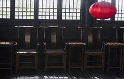 Construção chinesa velha/dinastia de Tang construção chinesa imagem de stock royalty free