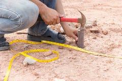 Construção civil da avaliação Foto de Stock Royalty Free