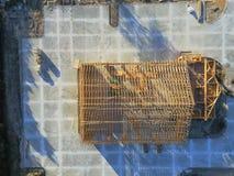 Construção civil de madeira aérea do anúncio publicitário da casa fotos de stock royalty free