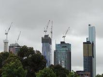 Construção civil em Melbourne imagens de stock
