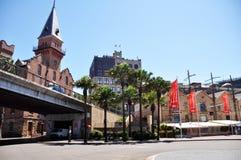 Construção clássica na cidade das rochas em Sydney Fotos de Stock Royalty Free