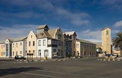 Construção colonial alemão em Swakopmund Fotos de Stock Royalty Free