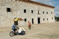 Construção colonial de casas Reales de Las em Santo Domingo Foto de Stock Royalty Free