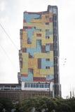 Construção colorida em Maputo, Moçambique fotografia de stock royalty free