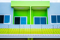 Construção colorida em Tailândia Foto de Stock