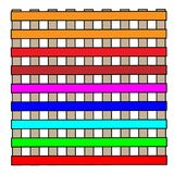 Construção colorida simples com janelas ilustração do vetor