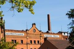 Construção com alvenaria do tijolo - cervejaria histórica foto de stock royalty free