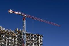 Construção com guindaste Fotos de Stock