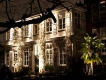 Construção com luzes no festival anual da luz de Amsterdão Imagens de Stock