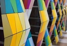 Construção com telha colorida fotos de stock