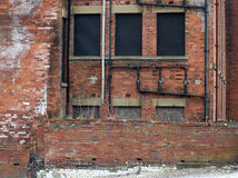 Construção comercial abandonada Derelict foto de stock royalty free