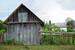 Construção comercial de madeira velha rústica Foto de Stock Royalty Free