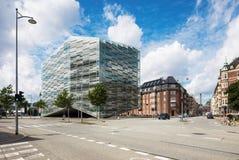 Construção comercial em Copenhaga fotografia de stock