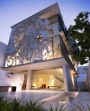 Construção contemporânea elegante Foto de Stock