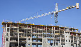 Construção Crane On Site Imagens de Stock Royalty Free