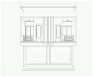 a construção 3D isolada no branco - Vector a ilustração Fotos de Stock Royalty Free