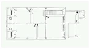 a construção 3D isolada no branco - Vector a ilustração Imagem de Stock Royalty Free
