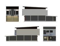 a construção 3D isolada rende Imagem de Stock Royalty Free