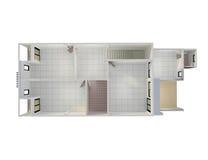 a construção 3D isolada rende Fotos de Stock