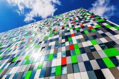 Construção da acomodação do estudante no campus universitário em Utrecht, Países Baixos Imagem de Stock Royalty Free