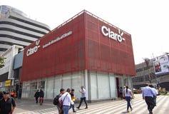 Construção da agência da atenção do cliente do Claro em San Isidro fotografia de stock