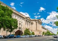 Construção da Agência de Proteção Ambiental do Estados Unidos em Washington, C.C. EUA Fotografia de Stock Royalty Free