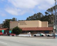 Construção da alfândega e da patrulha fronteiriça dos E.U. em San Clemente California Fotografia de Stock