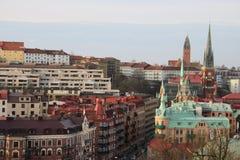 Construção da arquitetura da cidade do topview de Göteborg na Suécia goteborg Imagem de Stock