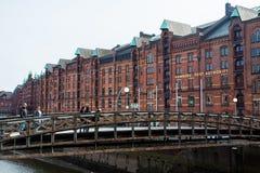 Construção da autoridade portuária de Hamburgo imagem de stock