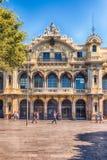 Construção da autoridade portuária em Barcelona, Catalonia, Espanha imagem de stock