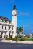 Construção da autoridade portuária em Valência, Espanha imagens de stock royalty free