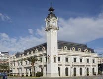 Construção da autoridade portuária em Valência spain fotografia de stock