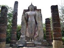 A construção da Buda no parque histórico de Sukhothai Imagem de Stock