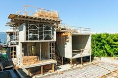 Construção da casa - arquiteto fotografia de stock