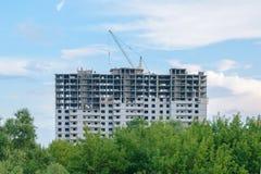 Construção da casa de apartamento nova Fotografia de Stock Royalty Free