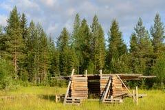 Construção da casa de log foto de stock royalty free