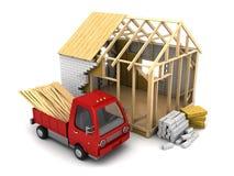 Construção da casa de quadro Imagens de Stock
