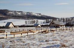 Construção da casa no local atribuído Fotos de Stock Royalty Free