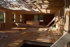 Construção da casa nova em andamento Fotos de Stock