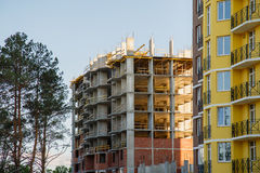 Construção da casa nova ou da construção Fotos de Stock Royalty Free