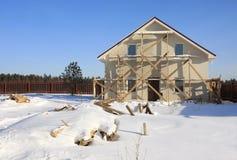 Construção da casa pequena. Parte dianteira. Imagens de Stock